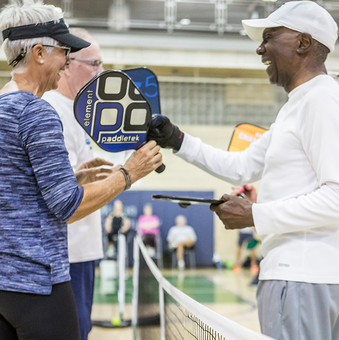 pickleball leagues on the Monon Community Center courts