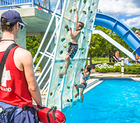 Aqua Climb at the Monon Community Center Waterpark