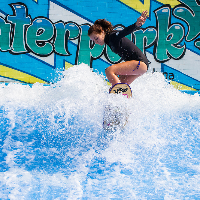 girl on flowrider