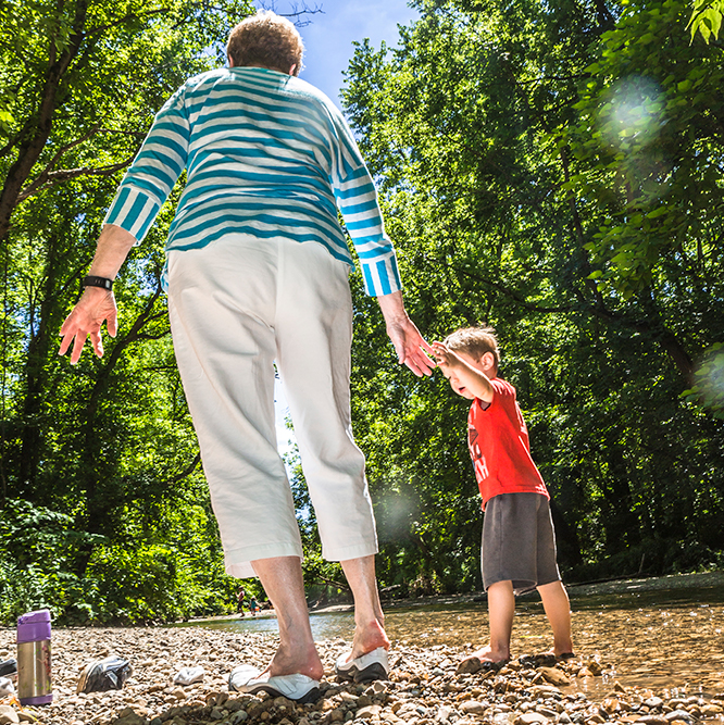 grandmother and grandchild at Flowing Well Park