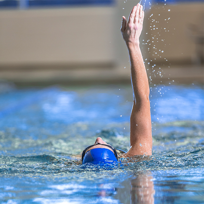 Woman swimming at Monon Community Center
