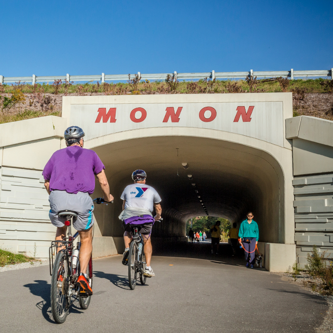 bicyclists on the Monon Greenway