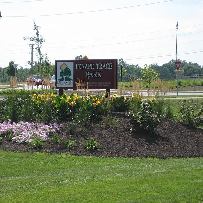sign at Lenape Trace park