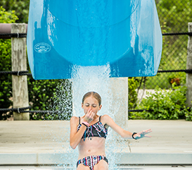 Plunge Slide at the Monon Community Center Waterpark