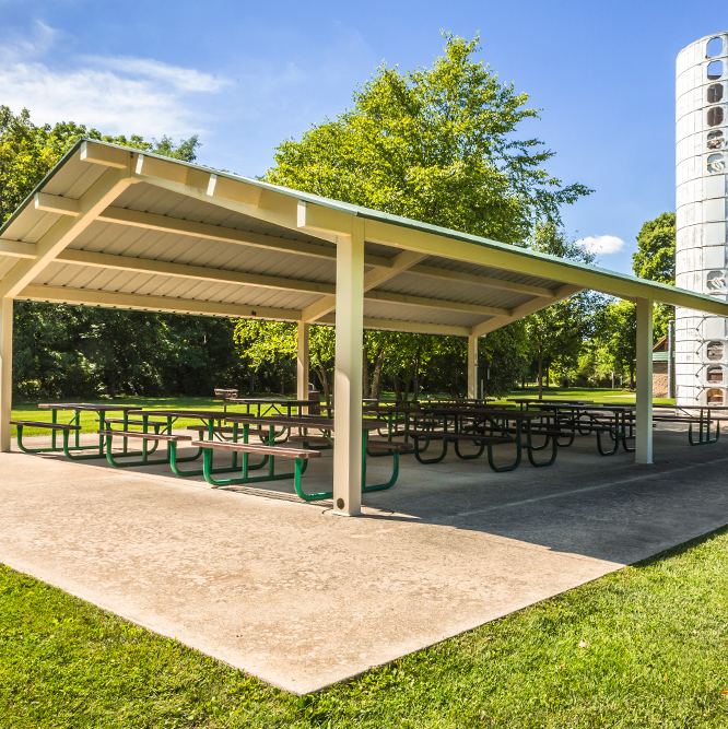 shelter at River Heritage Park