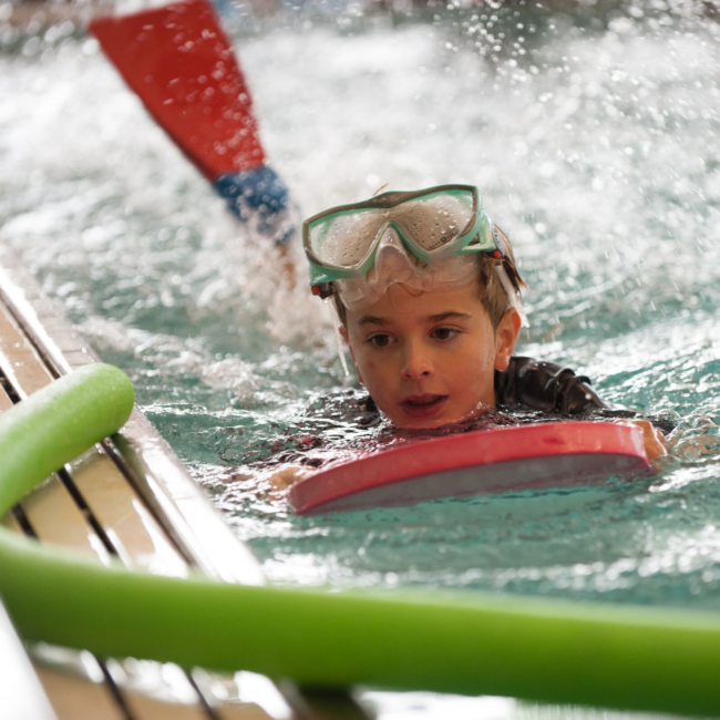 Swim Lessons at the indoor pool in the Monon Community Center