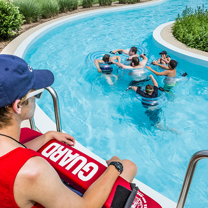 lazy river and lifegaurd