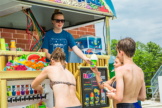Sno Cones available at the Waterpark