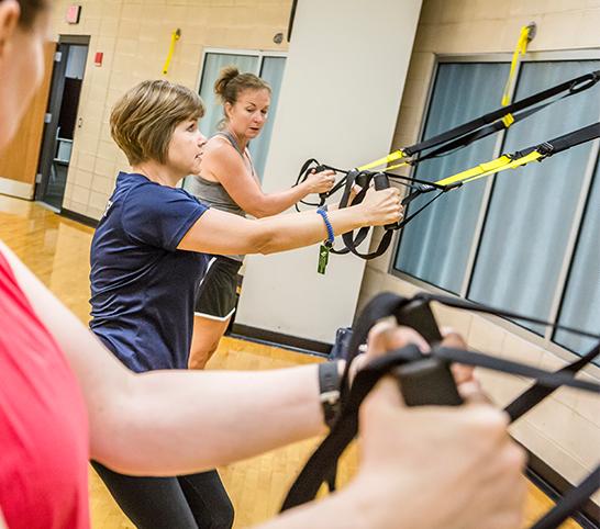 Women in Wellness Program on TRX equipment