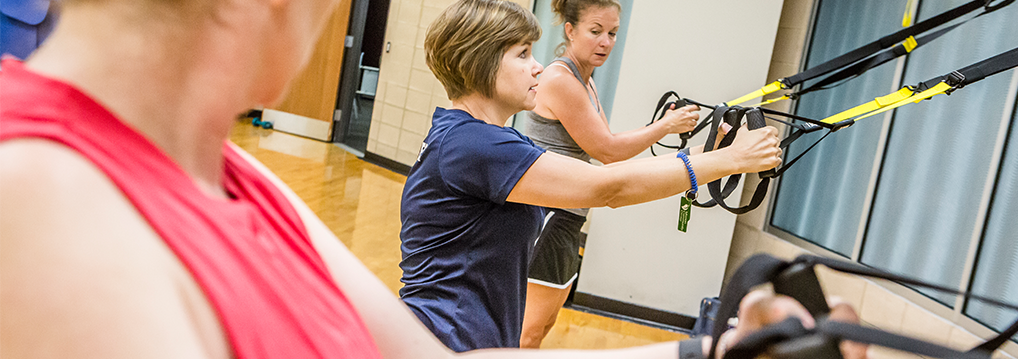 Women in Wellness Program using TRX equipment