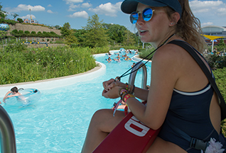 lifeguard at a lazy river