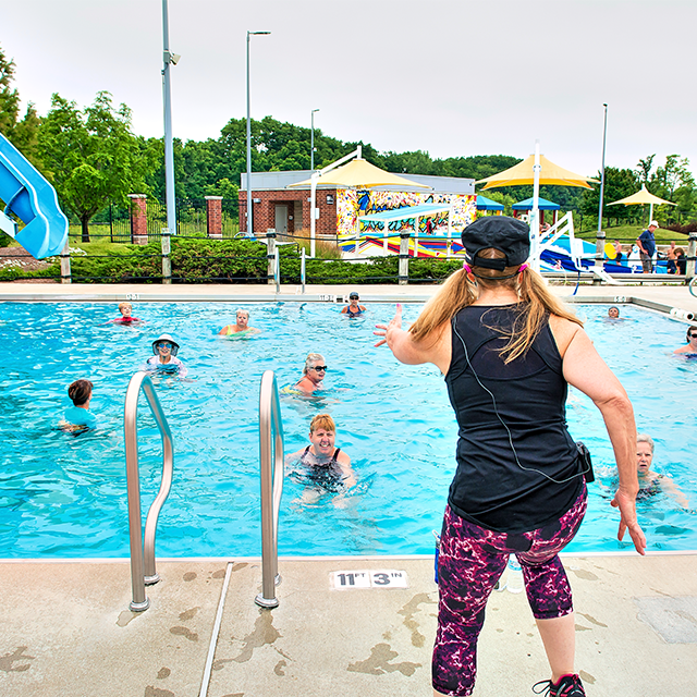 Aqua Group Fitness Class at The Waterpark in Carmel