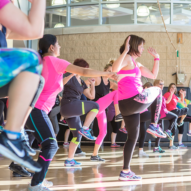 zumba class at the gym in Carmel