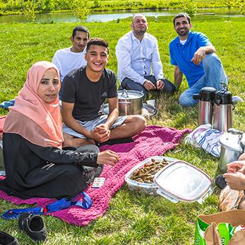 picnic at a park