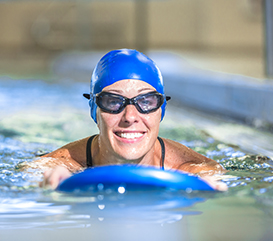 Indoor Aquatics at Monon Community Center where you can swim laps, take swim lessons, attend aqua fitness classes and more.