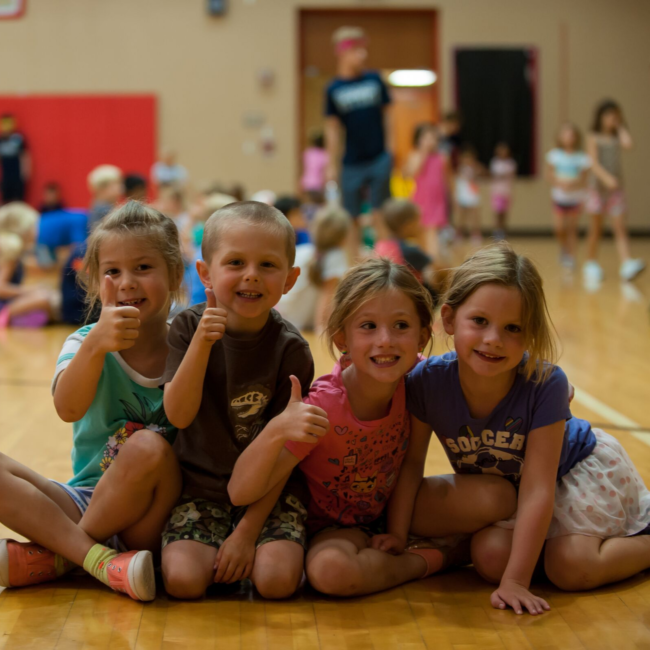 Kids playing at a Play On summer camp