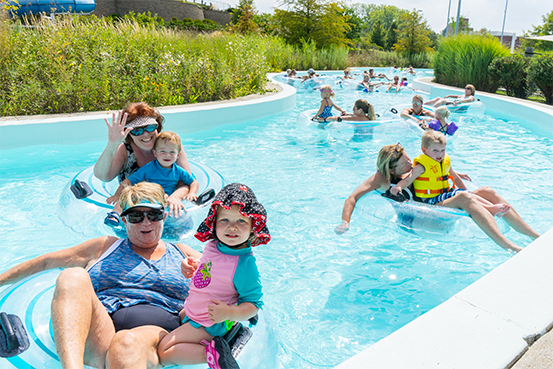 lazy river at Carmel Clay Parks and Recreation