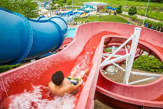 adventure slide at the waterpark