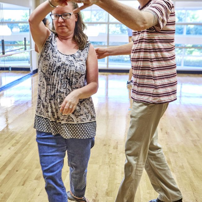 Dancing at a senior program