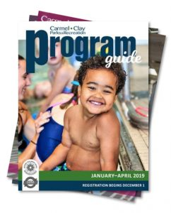 Carmel Clay Parks & Recreation Program Guide Registration Begins graphic