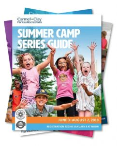Carmel Clay Parks & Recreation Summer Camp Series Guide graphic