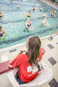 Lifeguard at the pool at the Monon Community Center (MCC)