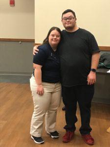 Michael Sharkey with his wife Jess Sharkey