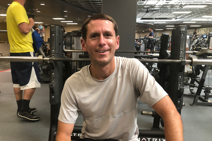 Marcus Fischer at the Monon Community Center Fitness Center