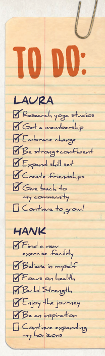 To Do List for Laura and Hank