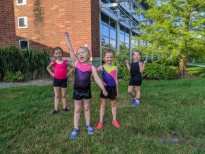 Hippity Hop Dance Participants outside after class