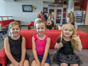 Hippity Hop Dance participants in lobby after class