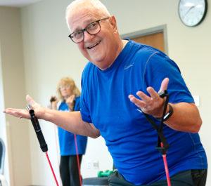 Hank Levandowski, MCC member during SilverSneakers group fitness class