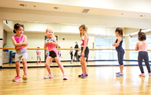 Girls dancing in a recreation program
