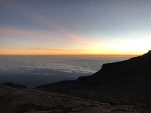Above the clouds on Mt. Kilimanjaro