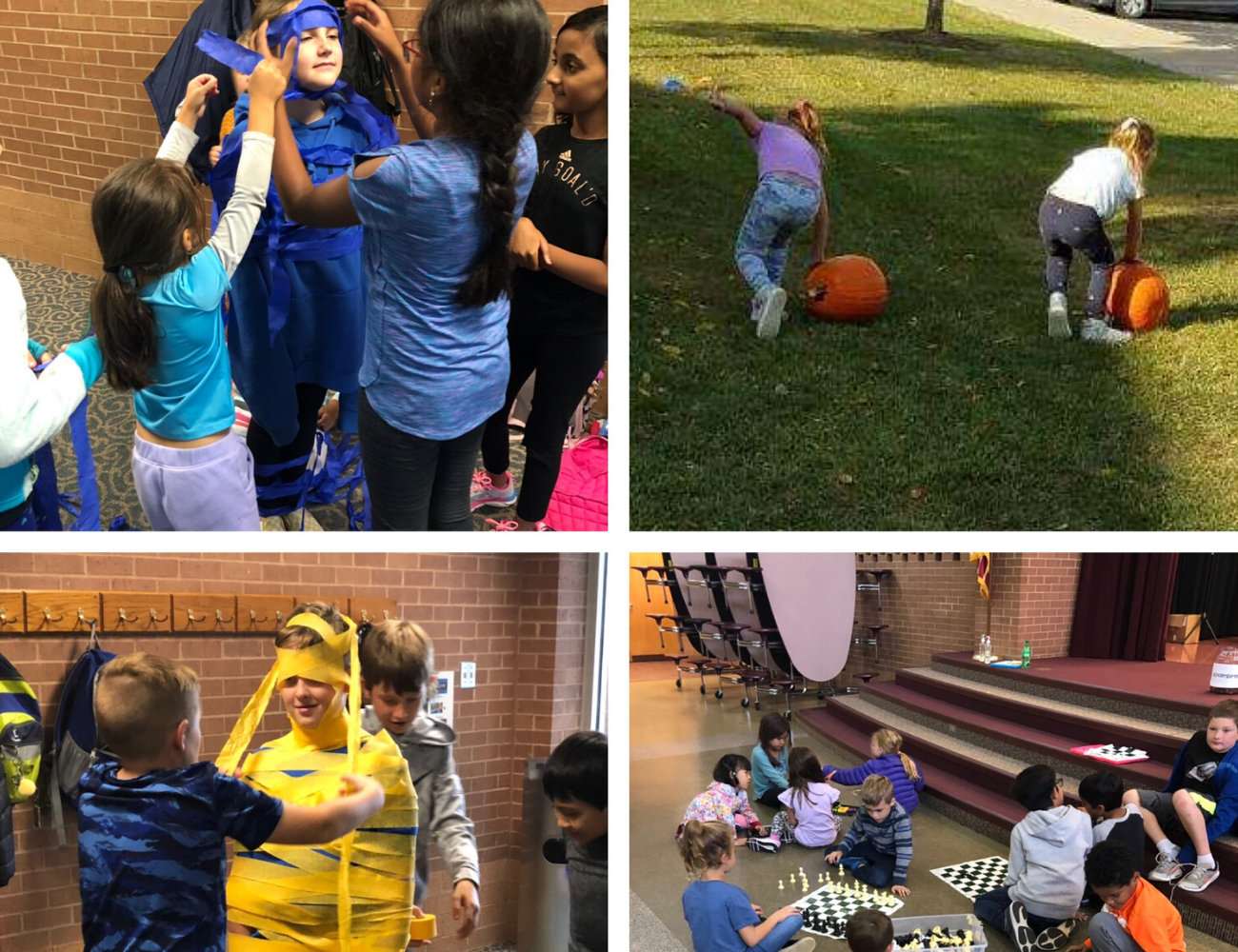 Kids at Smoky Row Elementary Extended School Enrichment (ESE) before and after school program