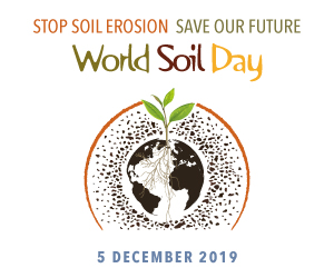 Stop Soil Erosion. Save Our Future. World Soil Day 2019