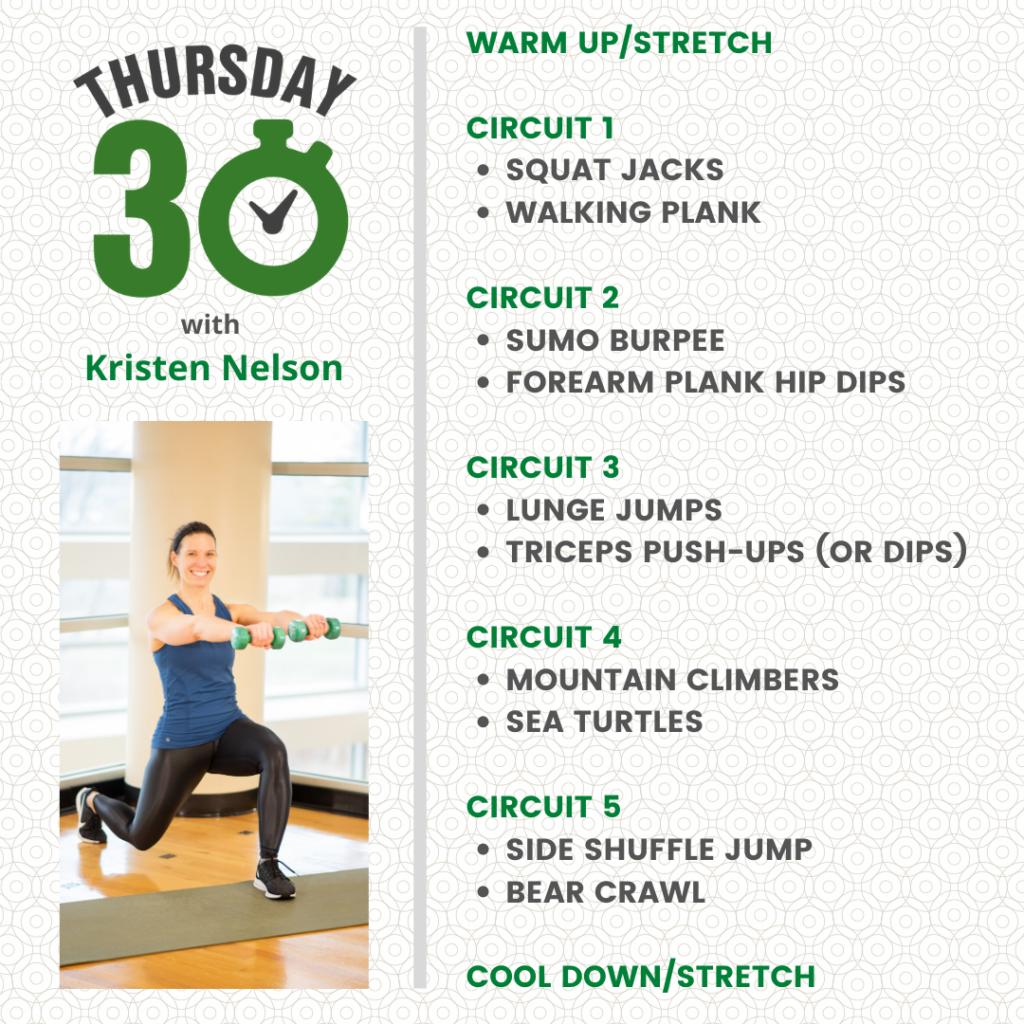 Kristen Nelson Bodyweight Circuit Workout