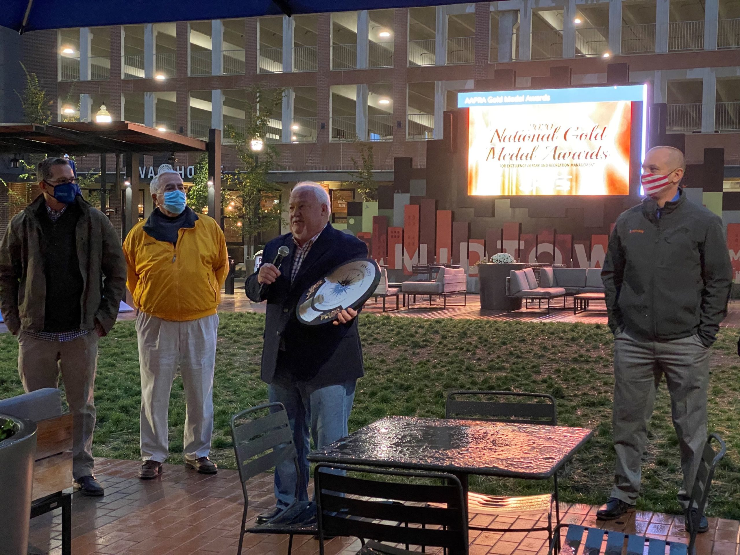 Viewing Party held at Midtown Plaza