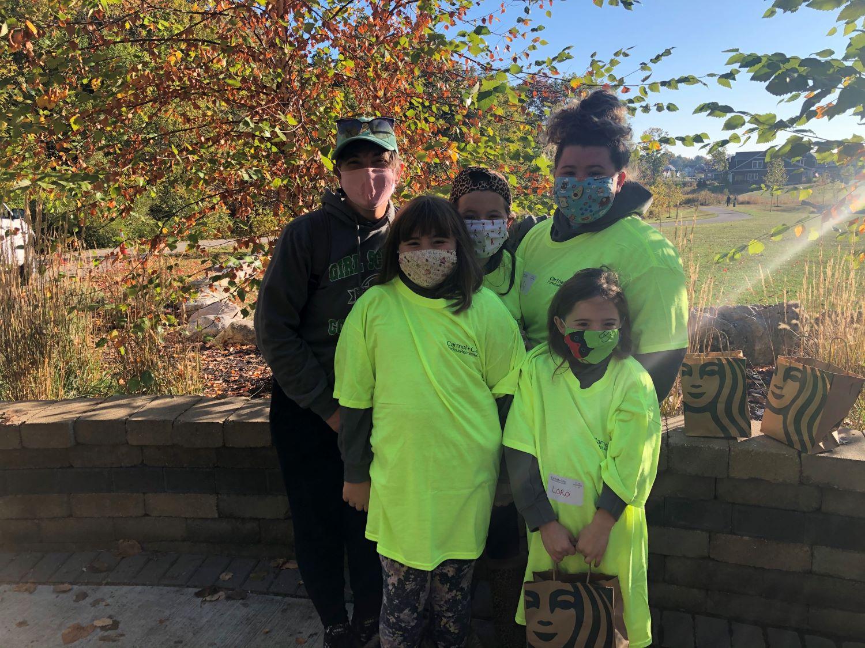 Volunteers at a park