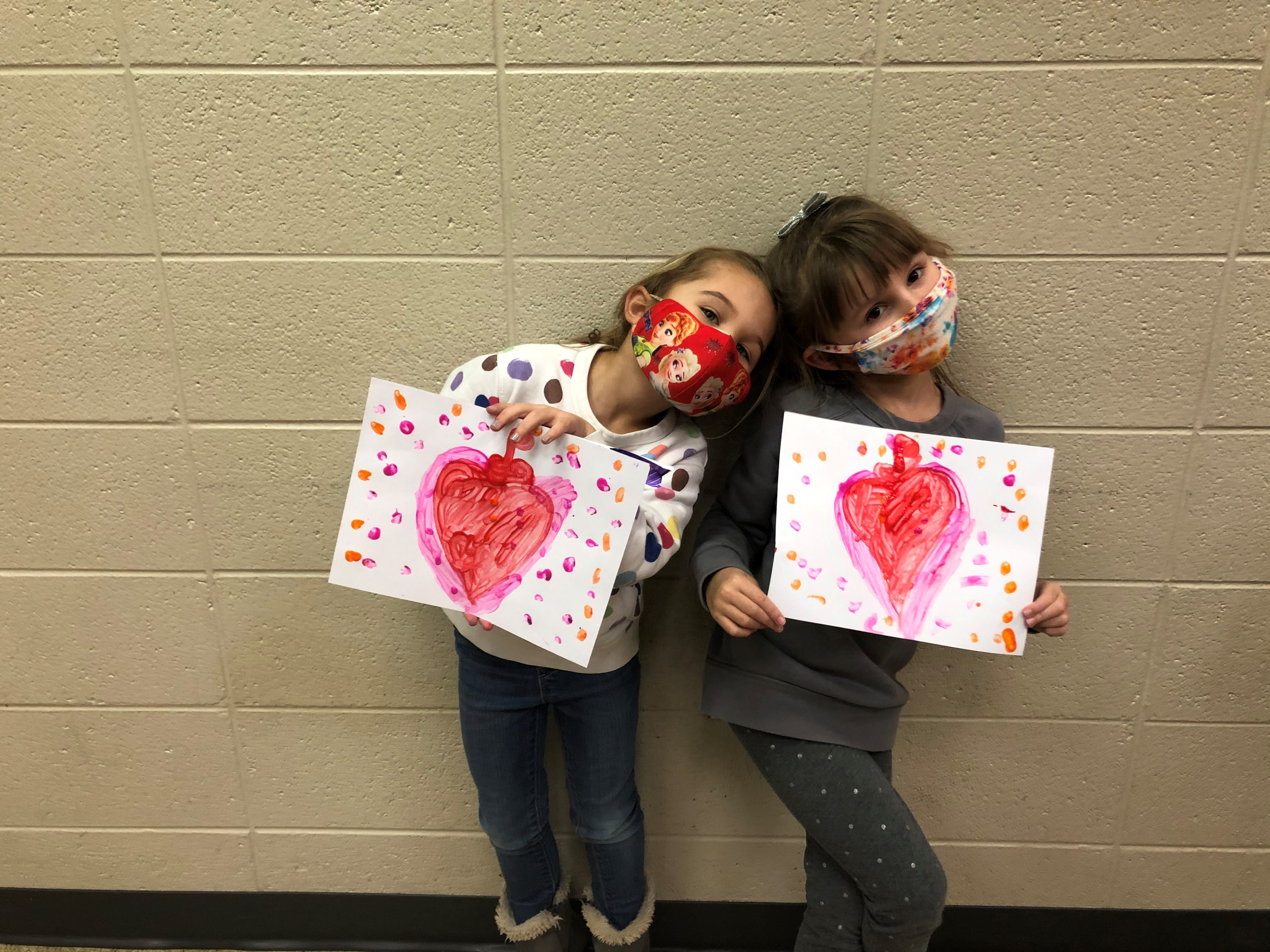 Kids at a Valentine's Day party