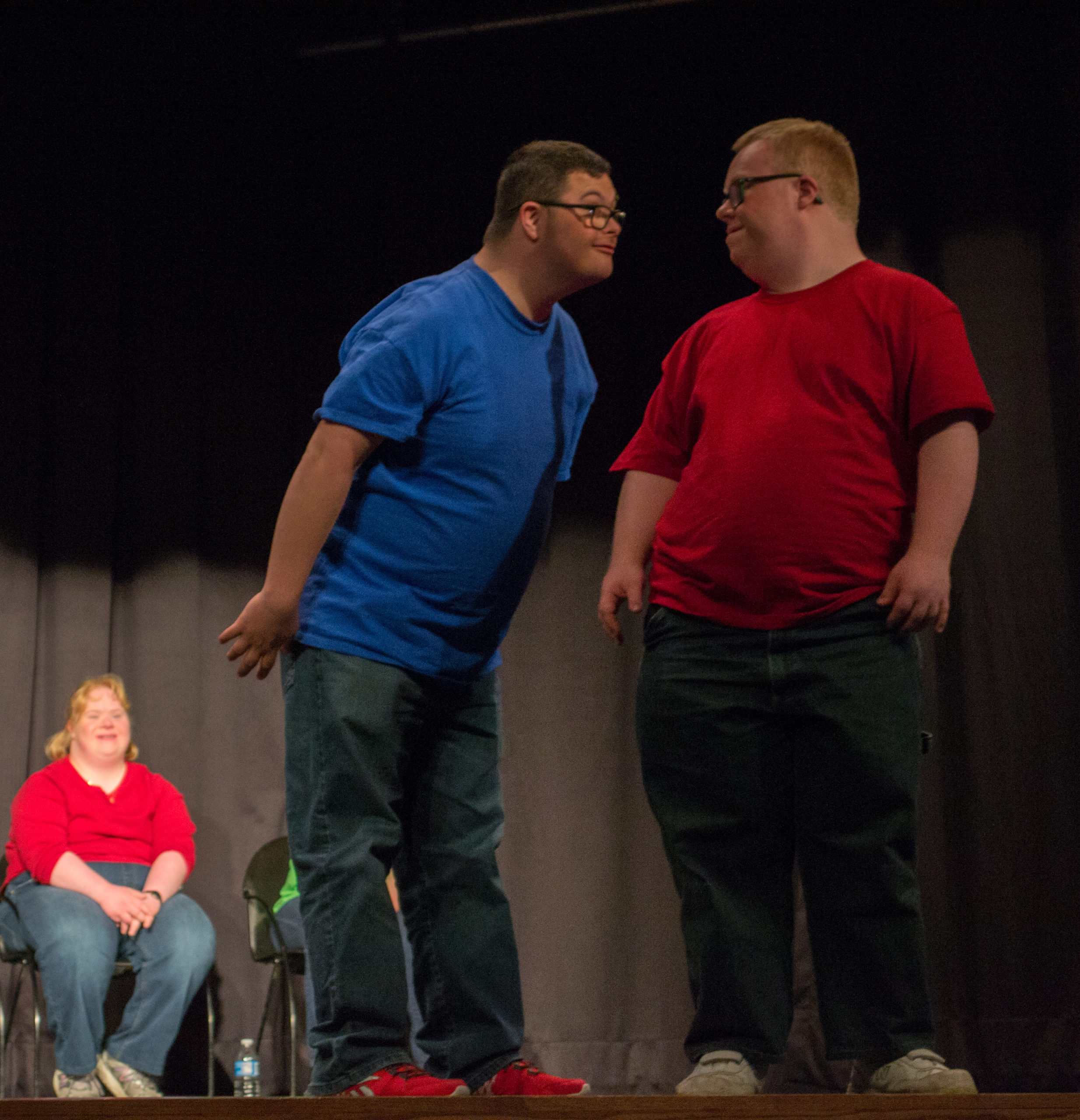 Actors in the theatre troupe