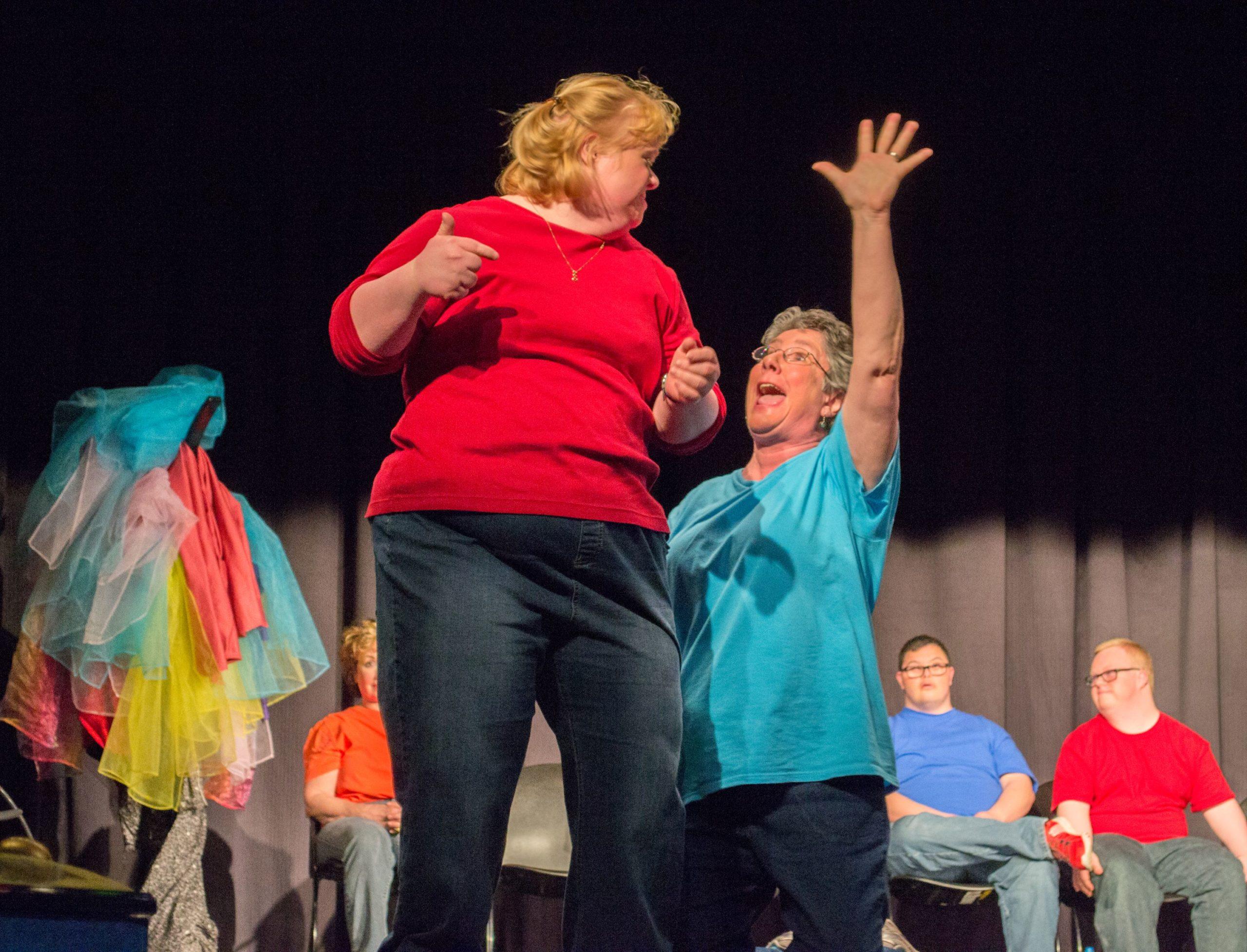 Actors in theatre troupe