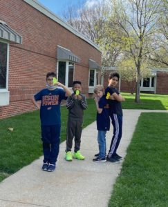 Kids at walk-a-thon