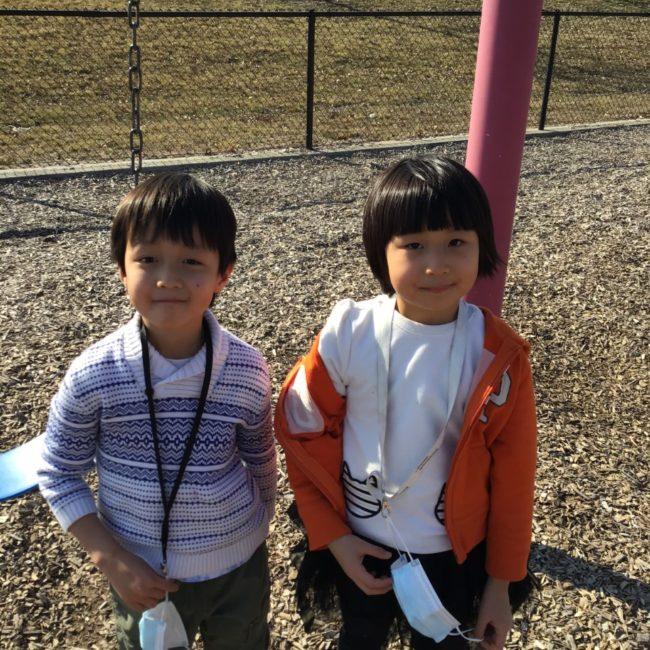 Kids on the swings