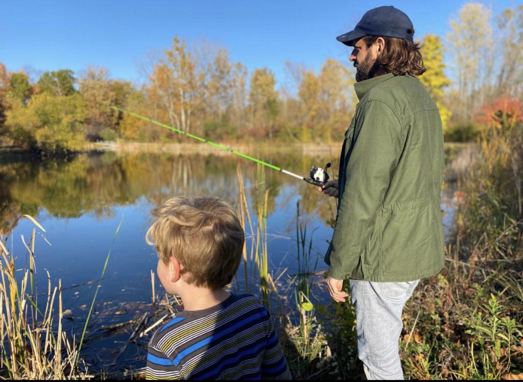 Family fishing at Meadowlark Park